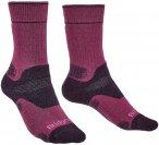 Bridgedale Damen Hike MW Socken (Größe 42, 43, 41, Lila)