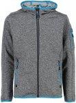 CMP Kinder Boys Knit Tech Jacke (Größe 116, Grau)