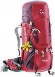 Deuter Damen Aircontact 40+10 SL Rucksack (Rot) | Trekkingrucksäcke > Damen