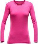 Devold Damen Breeze Longsleeve (Größe S, Pink) | Langarm Unterhemden > Damen