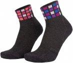 Eightsox Color Mid Merino 2er Pack Socken (Größe 36, 35, 37, 38, Grau)