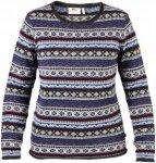 Fjällräven Damen Övik Folk Knit Pullover Blau L