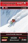 Freeride Map Trois Vallées / Val Thorens - Ski