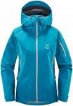 Haglöfs Damen Roc Spirit Jacke (Größe S, Blau) | Hardshelljacken & Regenjacke