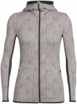 Icebreaker Damen Away Zip Hood Showers Jacke Beige XS