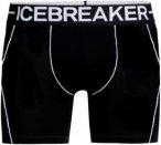 Icebreaker Herren Anatomica Zone Boxer (Größe M, Schwarz)   Kurze Unterhosen >