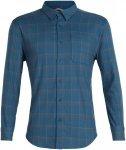 Icebreaker Herren Compass Flannel Longsleeve Hemd (Größe L, Blau)   Hemden > H