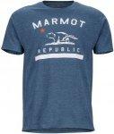 Marmot Herren Marmot Republic T-Shirt Blau S