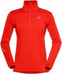 Norrona Damen Falketind Warm1 Stretch Zip-Neck Rot XS
