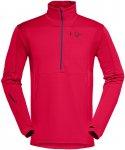 Norrona Herren Falketind Warm1 Stretch Zip-Neck (Größe S, Rot) | Longsleeves F