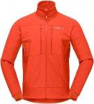 Norrona Herren Trollveggen Hiloflex200 Jacke (Größe S, Orange)