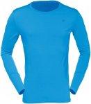 Norrona Herren Wool Round Neck (Größe XXL, Blau) | Langarm Unterhemden > Herre