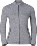 Odlo Damen Midlayer Full Zip Alagna (Größe L, Grau) | Fleecejacken > Damen