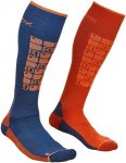 Ortovox Herren Ski Compression Socke Blau 45, 46, 47