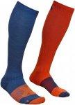Ortovox Herren Tour Compression Socke (Größe 42, 43, 44, Blau) | Skisocken > H