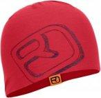 Ortovox Merino Cool Logo Mütze Rot