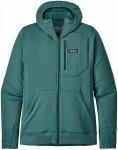 Patagonia Herren R1 TechFace Hooded Jacke (Größe M, Grün) | Fleecejacken > He