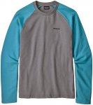 Patagonia Herren P-6 Logo LW Crew Sweatshirt (Größe S, Grau) | Pullover > Herr