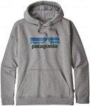 Patagonia Herren P-6 Logo Uprisal Hoodie (Größe XL, Grau) | Hoodies > Herren