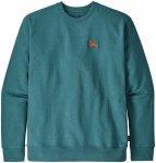 Patagonia Herren Small Flying Fish Uprisal Crew Sweatshirt (Größe M, Grün) |