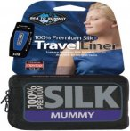 Sea to Summit Silk Stretch Liner - Mummy (Blau)