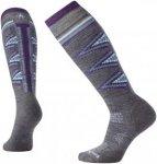 Smartwool Damen PhD Ski Light Pattern Socken (Größe XL, Grau) | Skisocken > Da