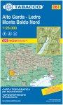Tabacco Alto Garda - Ledro / Monte Baldo Nord 061 Wanderk.
