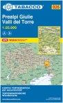 Tabacco Prealpi Giulie-Valli del Torre 026 Wanderkarte