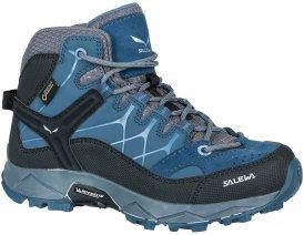 Salewa Kinder Alp Trainer Mid GTX Schuhe Blau 29