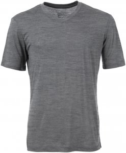 Super.Natural Herren Base 140 V-Neck T-Shirt Grau L