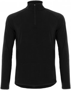 Super.Natural Herren Base 175 1/4 Zip Longsleeve Schwarz XXL